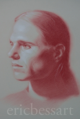 Red and White Chalk, 16x20, 2013