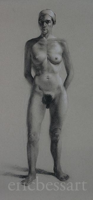 Charcoal/White Chalk18x242013