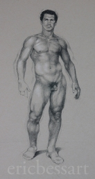 Figure Study, Charcoal and White Chalk, 18x24, 2013