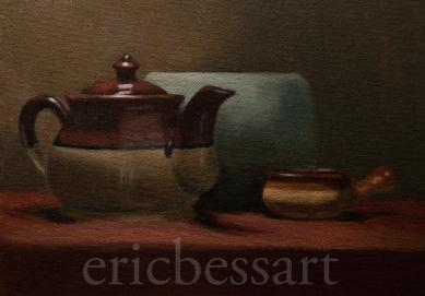 Tea Time, Oil, 9x12, 2013