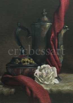 Monadic Flowering Metal, Oils, 5x7, 2014